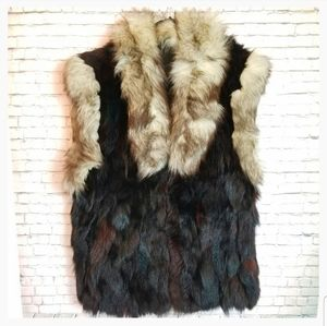 [VINTAGE] Stunning black / brown fur vest